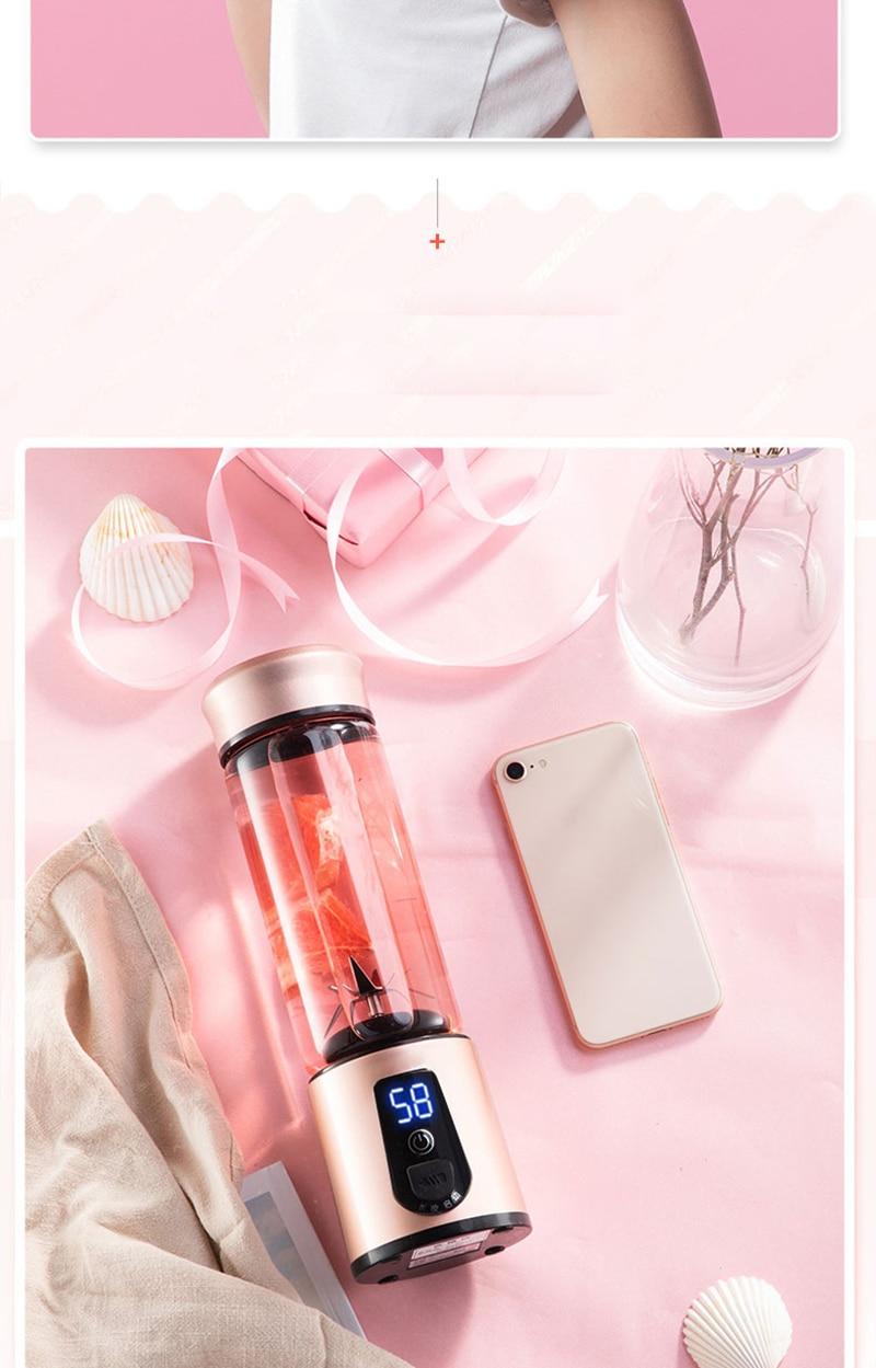 H6c71aa415eee40f0837e5d9c60ec9074j Portable Electric Juicer Blender USB Mini Fruit Mixers Juicers Fruit Extractors Food Milkshake Multifunction Juice Maker Machine