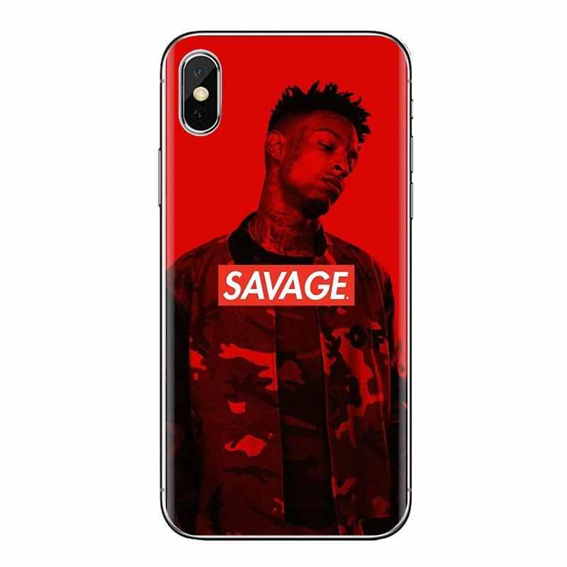 21 Savage Schlachtung Band TPU Silikon Fall Für Samsung Galaxy S2 S3 S4 S5 MINI S6 S7 rand S8 S9 plus Hinweis 2 3 4 5 8 Coque Fundas