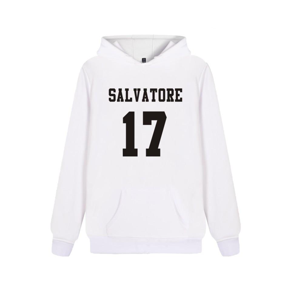 Salvatore 17 Vampire Diaries Mystic Falls Timberwolves Hoody Fashion Print Salvatore 17 Mens Popular Casual Sweatshirts Clothes