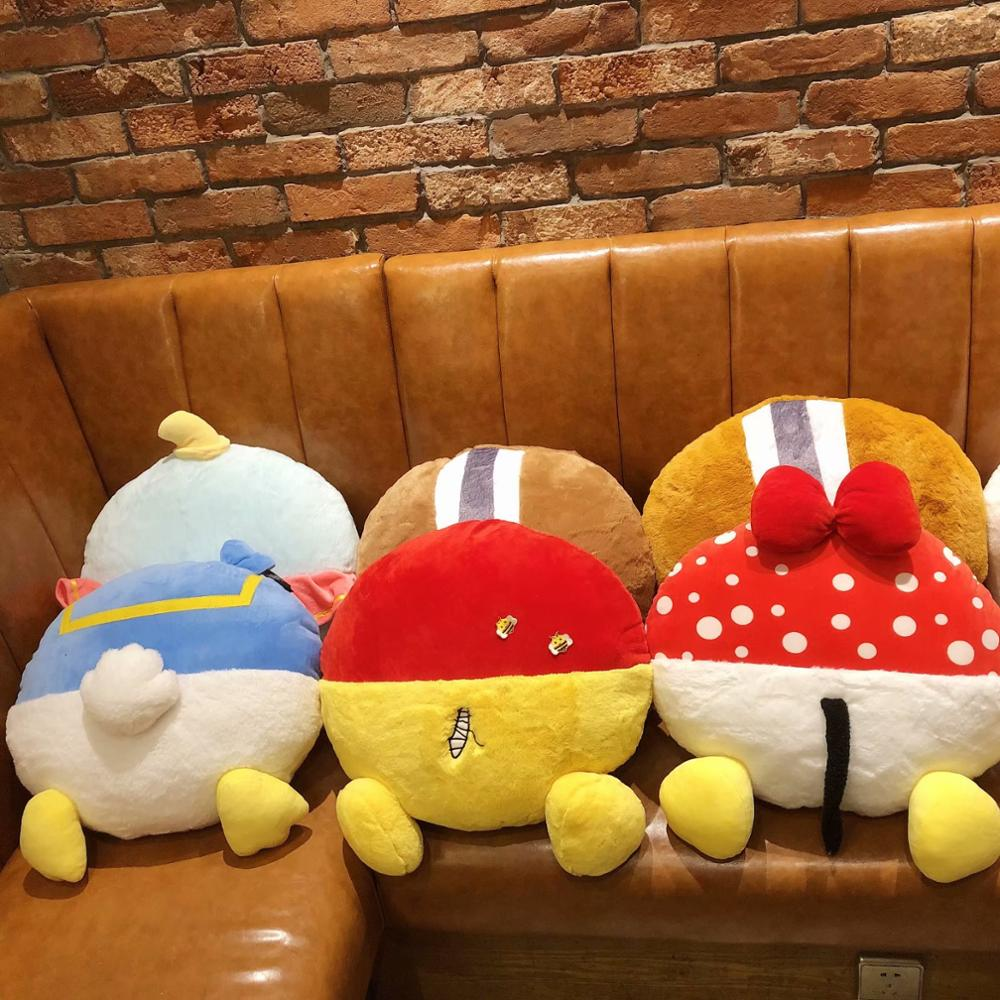 45cm Donald Duck Dumbo Stitch plush toy pillow lovely Losto Marie Cat stuffed Cushion cartoon sofa pillow gift for girlfriend