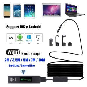8 мм WiFi 8 м эндоскоп с жестким кабелем водонепроницаемый USB эндоскоп ручной бороскоп Цифровая Инспекционная камера для телефона