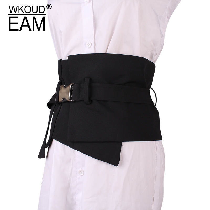 WKOUD EAM 2020 New Girdle Cotton Material Waistband Female Wild Buckle Korea Elegant Temperament Wedding Dress Belt Lady PE085
