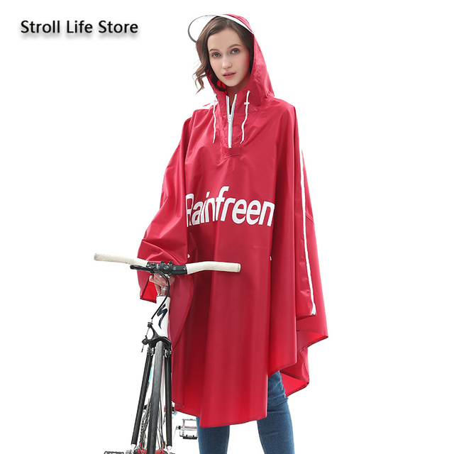 Adult Bicycle Rain Poncho Rain Coat Women Jacket Red Raincoat Men Anti- Riding Windbreaker Rainwear Capa De Chuva Gift Ideas