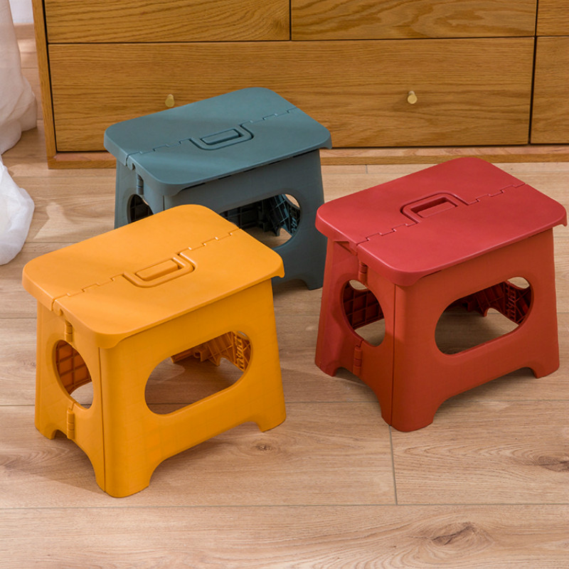 Plastic Folding Step Stool Home Train Outdoor Storage Foldable Outdoor Storage Foldable Kids Holding Stool Camping Pf01905