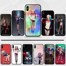 Harley Quinn Suicide Squad Joker DIY Luxus Telefon Fall Für iphone 5 5S SE 5C 6 6S 7 8 plus X XS XR 11 PRO MAX(China)