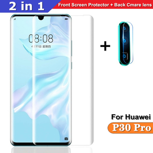 2 in 1 Protector glass For Huawei P30 Pro back Cmare glass + front Screen glass for Huawei P30pro 3D full cover Protective Film(China)