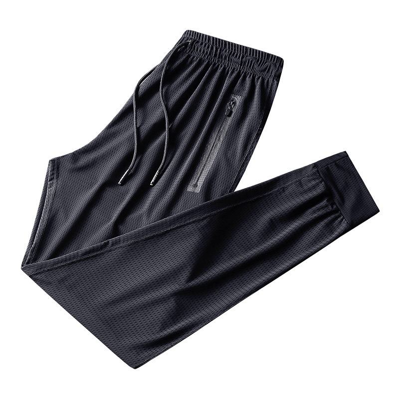 Spring 9XL Men Sweatpants Zipper Pocket Quickly Dry Sport Pants Casual Running Jogging Fitness Workout Track Gym Pant Sportswear in Trainning Exercise Pants from Sports Entertainment