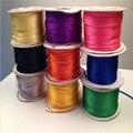 Плетеный шнур для макраме 10 метров, шелковый шнур для макраме, нить, проволока 2 мм, сделай сам, китайский узел, атласные браслеты, фурнитура д...