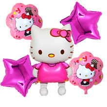 116*68cm Large Size Hello Kitty Cat Foil Balloon Cartoon Wedding Birthday Party Decoration Inflatable Air Balloon Classic Toys(China)