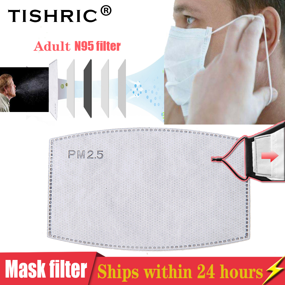 TISHRIC Mask Filter Paper Respirator PM2.5 Activated Carbon Filter Paper Health Care Anti-fog/Dust/Anti Haze/Protective Mask