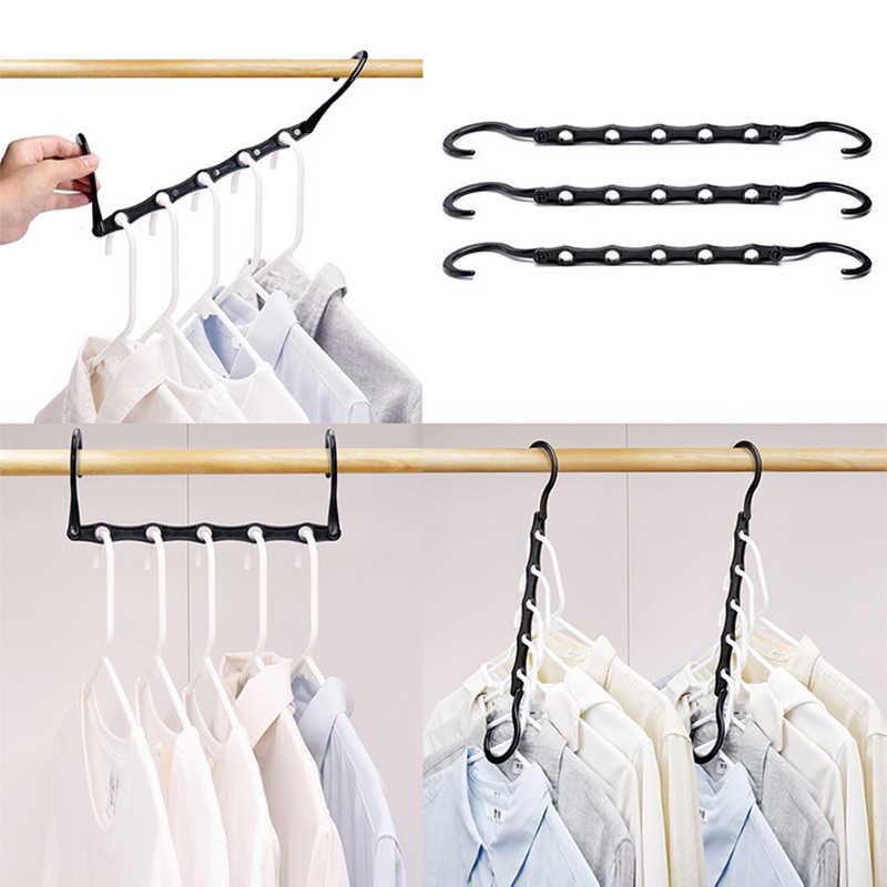 multifuncional ahorra espacio para colgar camisas gancho de almacenamiento para ropa del hogar Perchero plegable para puerta con soporte de dise/ño plegable Jacqu pantalones y blusas