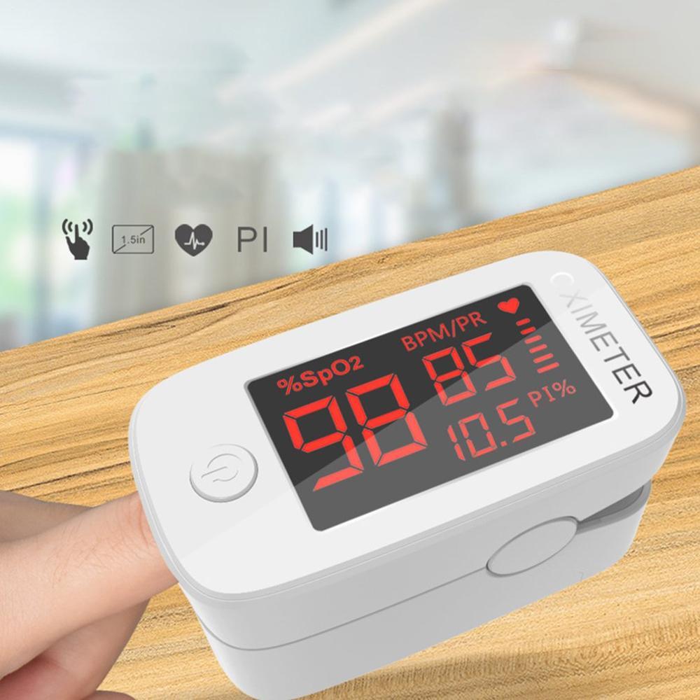 Finger Oximeter Durable Plastic Adult Finger Clip Blood Oxygen Saturation Tester Finger Pulse Meter 1 Set