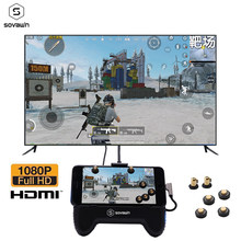 Ponsel Gamepad Android USB TV 4K HDMI Display Adapter Controller Joystick Layar Yang Sama Converter untuk iPhone Pubg TV proyektor(China)