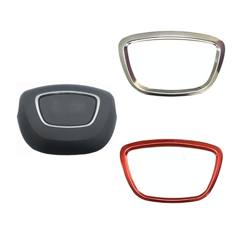 Наклейка на рулевое колесо для автомобиля, украшение для летающего колеса, средняя эмблема в центре, кольцо с логотипом, крышка для A4 B8 B9 Q5 Q7 ...
