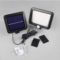 56 LED lampa słoneczna na zewnątrz światło ogrodowe wodoodporny czujnik ruchu PIR kinkiet bezpieczeństwa awaryjne lampa uliczna w Lampy ścienne od Lampy i oświetlenie na
