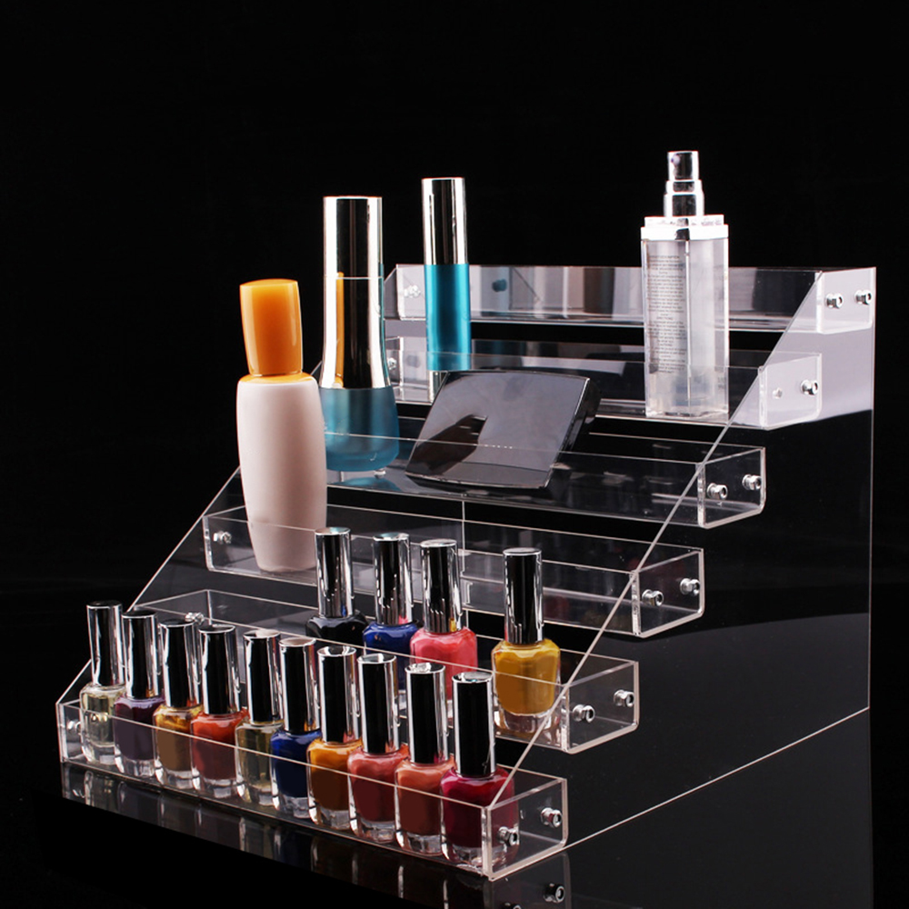 2-7 Layers Removable Rack Nail Polish Display Organizer Acrylic Clear Lipstick Storage Box Nail Cosmetic Varnish Display Holder