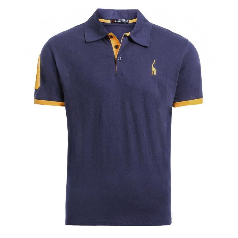 Dropshipping camiseta hombre 2019 de los hombres de la marca camiseta sólido bordado Slim camisetas de manga corta Casual 100% algodón T camisa de los hombres streetwear