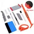 EHDIS Vinyl Wrap Tools Car Interior Accessories Kit Magnetic Stick Squeegee Scraper Carbon Fiber Film Sticker Cutter Repair Tool