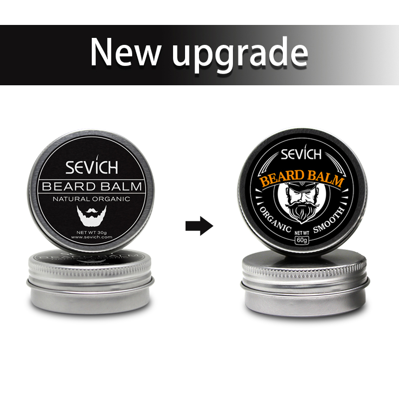 Купить с кэшбэком Natural Beard Balm Beard Conditioner Professional For Beard Growth Organic Mustache Wax For beard Smooth Styling 30g 60g sevich