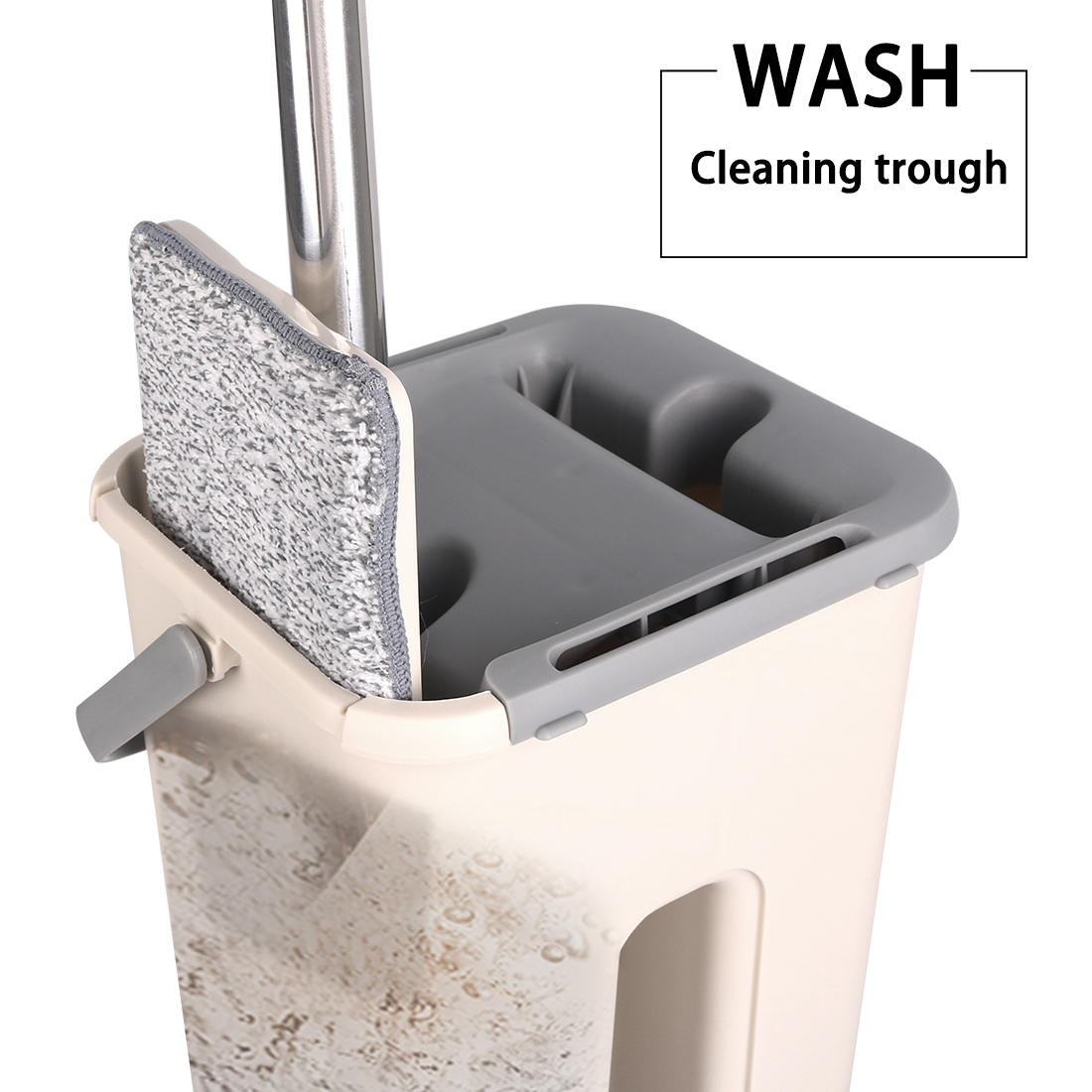 Image 4 - Magic Free Hand Cleaning Mops Spin Microfiber Mop With Bucket  Cloth Replace Flat Cleaner Home Kitchen Floor Windows Clean ToolsMops