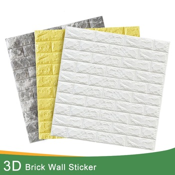3D Brick Wall Stickers DIY Decor Self-Adhesive Waterproof Wallpaper For Kids Room Bedroom 3D Wall Sticker Brick kaguyahime 3d wallpaper diy marble sticker waterproof stickers wall papers home decor kids room 3d self adhesive wallpaper brick