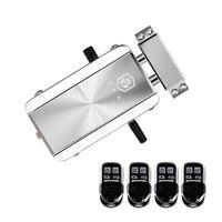Casa kit de bloqueio de porta de controle remoto keyless entrada bloqueio eletrônico inteligente sem fio anti roubo deadbolt sistema de controle de acesso para hom|Trava elétrica| |  -