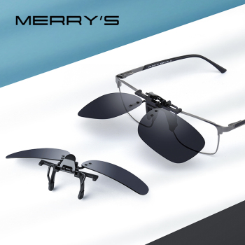 MERRYS DESIGN Clip On Glasses Frame UV400 Polarized Fishing Driving Sunglasses Clips Day Night Vision Clip Glasses P0088 vivibee men polarized clip on sunglasses for driving 2020 night vision yellow women square sun glasses with clips unisex clips