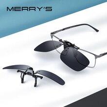 MERRYS DESIGN Clip On Glasses Frame UV400 Polarized Fishing Driving Sunglasses Clips Day Night Vision Clip Glasses P0088