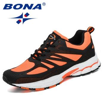 celos Fondos concepto  BONA 2019 New Designers Mesh Sneakers Men Outdoor Jogging Walking Shoes Man  Sport Shoes Zapatillas Hombre Deportiva Comfortable-Leather bag