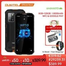 OUKITEL WP10 5G wytrzymały smartfon wersja globalna 8GB + 128GB 8000mAh telefon komórkowy 6.67