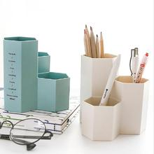 Korean Creative simple Desk Organizer hex Pencil holder Multifunction plastic desktop storage School Office Stationery Supplies