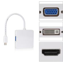 Mini puerto de pantalla 3in1 A Adaptador HDMI DVI VGA para Microsoft Surface Pro 1 2 3 4 5 6 para macBook para Lenovo(China)