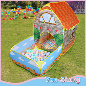 Kids Children Pop Up Tents House With Courtyard Garden Crawling Folding Tent House Boys Girls Play Tent Ball Pool Children Gift(China)