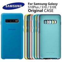 Funda de silicona Original para Samsung Galaxy S10 Plus S10e, cubierta de silicona sedosa de alta calidad, trasera suave al tacto, S10 + S10 E