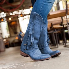 2019Brand Ladies Western Mid-calf Boots For Women Short Fashion Women Boots Pointed Toe Buckle Strap Shoes Autumn Winter Boots eyelet buckle strap mid calf boots