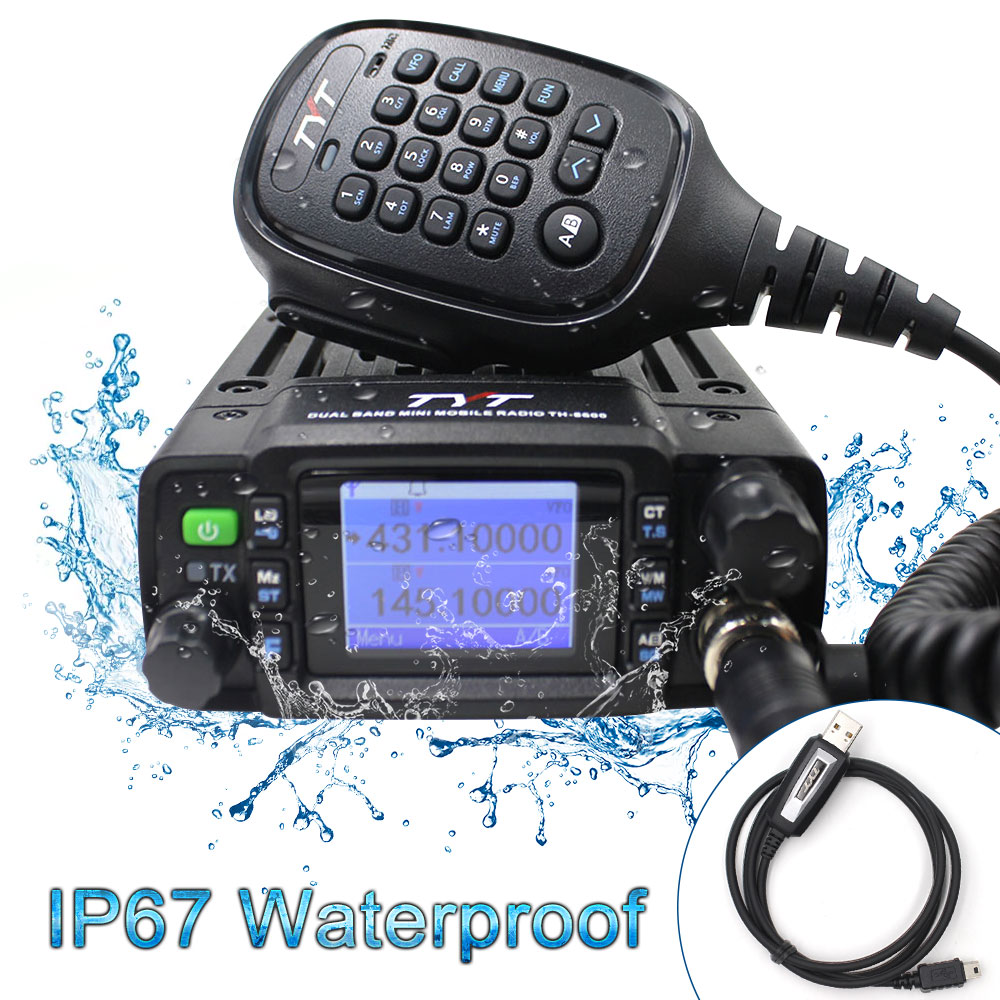 TYT TH-8600 Mini Mobile Radio IP67 Waterproof 25W Dual Band VHF UHF Walkie Talkie Ham Radio Communciator Radio Station