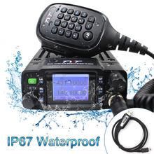 Tyt TH-8600 mini rádio móvel ip67 à prova d25 água 25 w dupla banda vhf uhf walkie talkie presunto rádio estação de rádio communciator