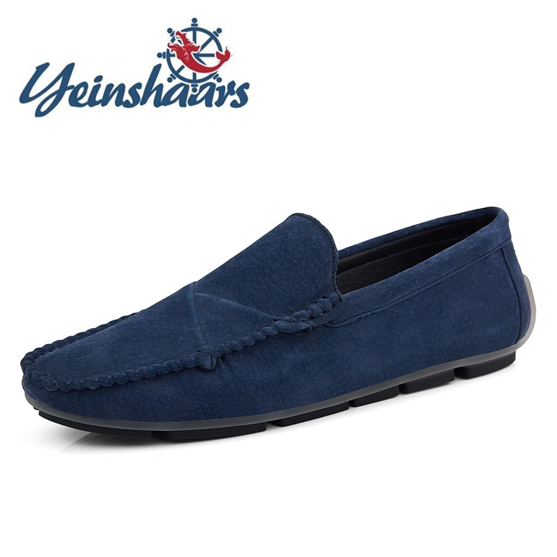 New Men Casual Shoes Men's Flats Loafers Leather Fashion Men Shoes Slip On Light Driving Shoes Loafers Suede Shoes Man Moccasins