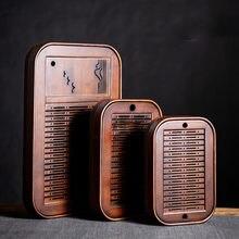 Service à thé rectangulaire en bambou naturel, accessoire pour la maison, avec Drainage de l'eau