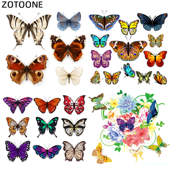 Butterfly Animal Patch Flower Iron on Patches for Clothing Sticker for Clothes T-shirt Heat Transfers Applications DIY Appliques zotoone rose patches iron on blooming flower stickers for clothing heat transfers diy plants patch for kids washable appliques d