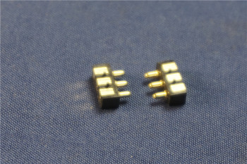 100pcs Spring Loaded Pogo Pin Connector 3 Pin 2.50 mm Pitch 5.5 mm Height Surface Mount SMT Right Angle 90 Degree 3 Pole Guide