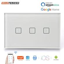 WiFi חכם וילון מתג קיר תריס מוסך חשמלי דלתות מתגלגל על ידי App Tuya Smartlife Alexa Google בית