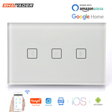 WiFi Smart Curtain Switch Wall Shutter Remote Control for Garage Electric Doors Rolling by App Tuya Smartlife Alexa Google Home