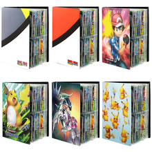 240PCS Game Pokemon Cards Album Book Cartoon Anime Card EX GX Collectors Loaded List For Kids Holder Capacity Binder Folder Toys