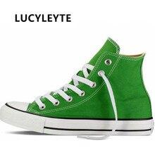 Women's canvas shoes flat vulcanized lace women's s