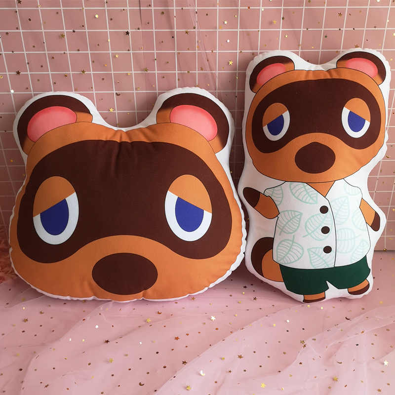 For Animal Crossing Leaf Plush Pillow Cushion Ichiban Kuji Amiibo Gifts