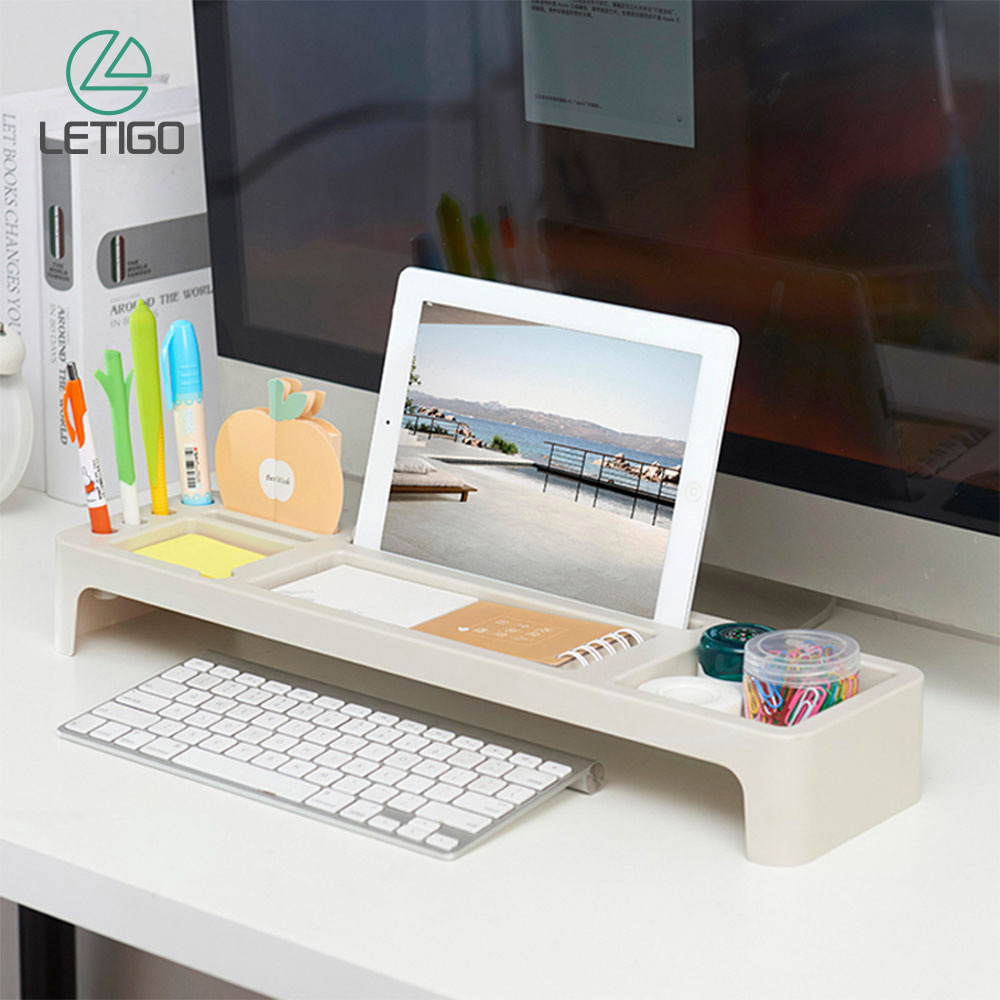 Desk Storage Shelf Desktop Storage Rack Office Table Desk Organizer Holder Keyboard Drawer Rack Pen Shelf