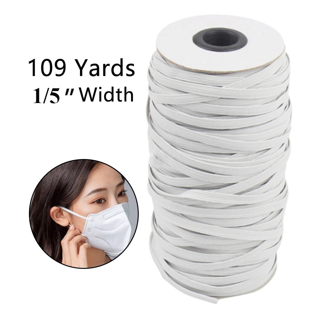 """Elastic Bands For Face Mask 1/5""""Width Elastic Cord For Crafts Elastic Rope"""