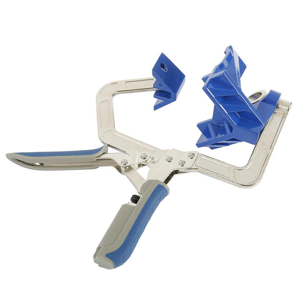90 度度直角クランプ自動調整可能な頑丈な顔枠木工直角クランプフィットツールのためのクランプ木工
