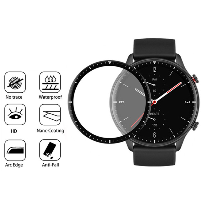 3D Curved Full Edge Soft Protective Film For Xiaomi Huami Amazfit GTR 2 Screen Protector for Amazfit Watch GTR2 Smartwatch Cover 5